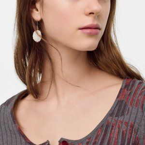 Boho Festival White Stone Earrings